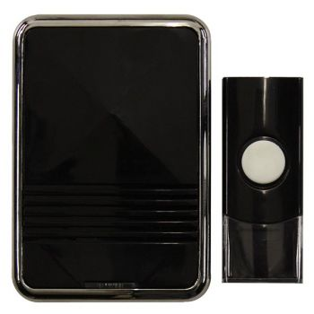 Ellies Wireless Doorchime With LED Black